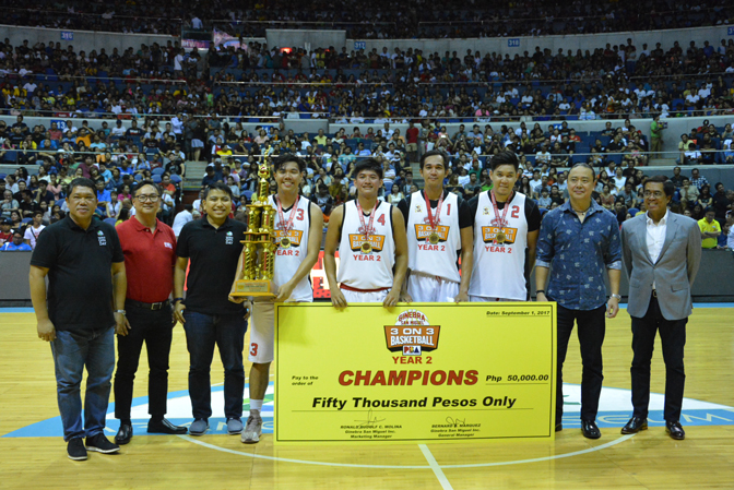 TEAM CAMSUR WINS GINEBRA SAN MIGUEL 3-ON-3 BASKETBALL TOURNAMENT