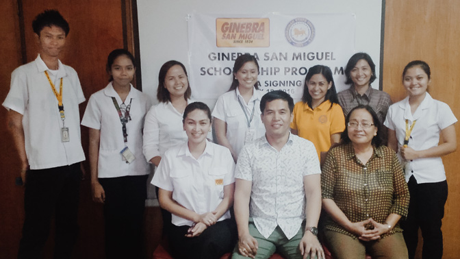 GINEBRA SAN MIGUEL TO PROVIDE SCHOLARSHIPS IN FIVE STATE UNIVERSITIES