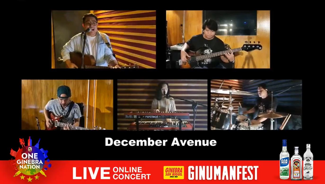 December Avenue dedicates their performance to frontliners.