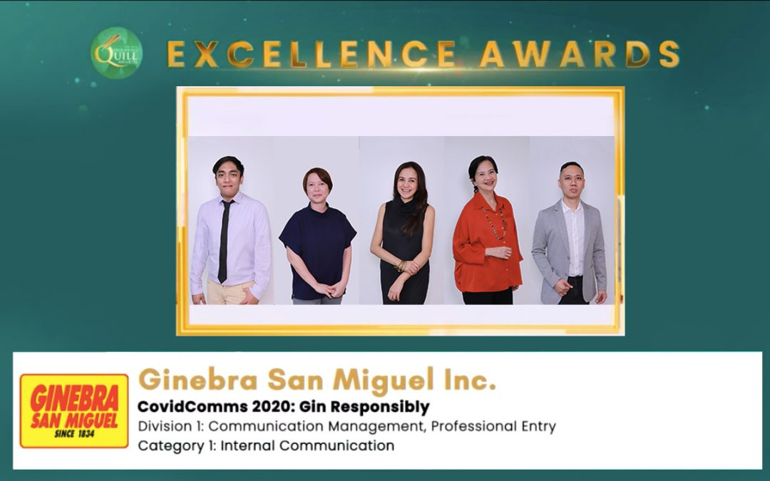 Ginebra San Miguel COVID-19 communications campaign bags Quill Award