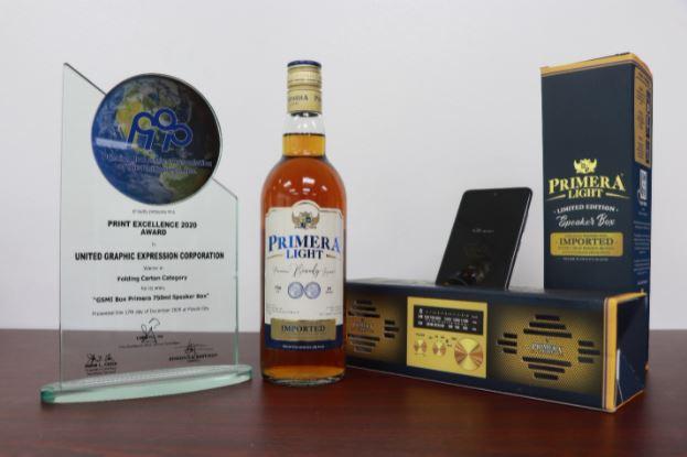Primera Light Brandy packaging wins Print Excellence Award